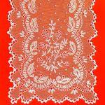 Czepek tiulowy - fragment, 1910 r., Leszkowice pow. Lubartów