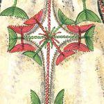 Haft na kożuchu (strój biłgorajski), rys. Turska J., Polski haft ludowy, Warszawa 1997