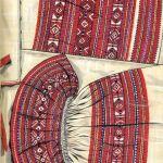 Haft - perebory na koszuli kobiecej (strój włodawski), rys. Turska J., Polski haft ludowy, Warszawa 1997